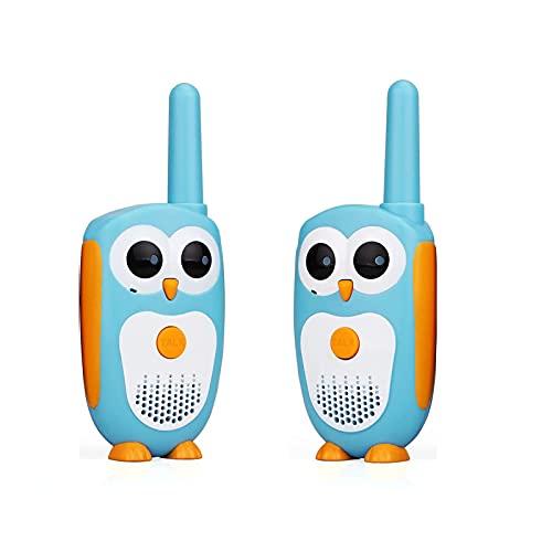 Guardare indietro Bambini Walkie Talkie Mini Una Coppia Set Cartoon Gufo Design Bambini Radio Walkie Talkie Migliori Giocattoli Regalo per Ragazzi E Ragazze(Color:Blu)