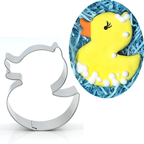 Antallcky Cute Duck Cookie Cutter Stainless Steel Biscuit Molds Fondant Cookie Cutter Set Pastry Mold-1 Inch Depth