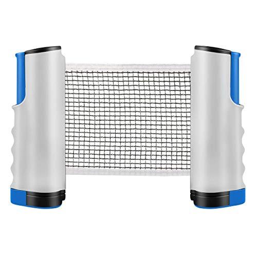 SZSMD Tischtennisnetz, Ausziehbares Tischtennisnetz, Einziehbares Tischtennis Netze, Justierbarer Ping Pong Ersatznetz, Tischtennisnetz Set für alle Tischtennis Platten Indoor Outdoor Sport Zubehör