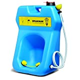 Speakman GravityFlo SE-4300 Portable Eyewash with Drench Hose, 20-Gallon, High Visibility ...