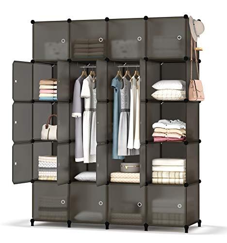 HOMIDEC Cube Storage Unit, 20 Cube Organiser Multi-Use DIY Storage Cube Shelf, Portable Wardrobes for Books, Toys, Clothes, Tools