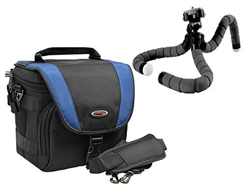 Fotocamera tas X-TREME PROFESSIONAL in set met Rollei Monkey statief voor Sony Alpha 6000 6300 Canon Eos 1300D 700D Panasonic Lumix FZ1000 Nikon D3300 en andere