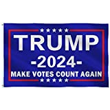 Trump 2024 Flag 3x5-Make Votes Count Again Flag 3x5 Outdoor Indoor-Double Stitched- Polyester with Brass Grommets…