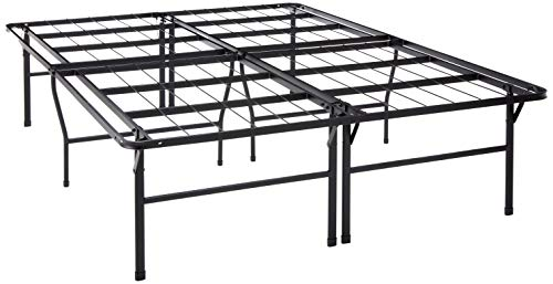 "Best Price Mattress Queen Bed Frame - 18"" Metal Platform Bed Frame w/Heavy Duty Steel Slat Mattress Foundation (No Box Spring Needed), Queen Size"