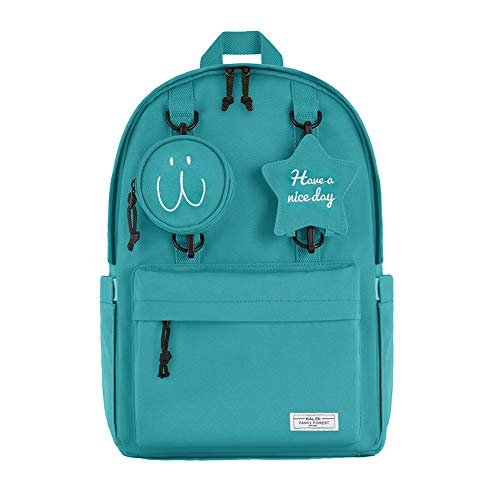 KALIDI Stylish Laptop Backpack Unisex Travel School College Rucksack Casual Daypack Durable Water Resistant fits up to 15 inch Laptop,Green