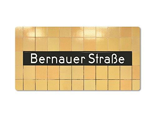 tom bäcker Magnet/Kühlschrankmagnet Nr8011 Berlin ++ BERNAUER STRAßE ++ U-Bahnhof - U-Bahn-Station - U8