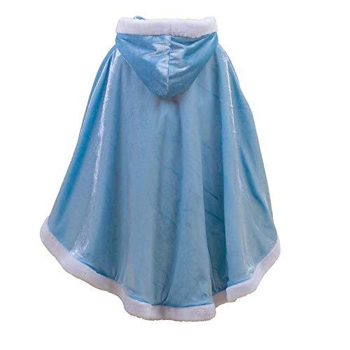 Yeesn Umhang mit Kapuze, für Mädchen, zum Verkleiden als Prinzessin Elsa/Anna/Belle/Rapunzel