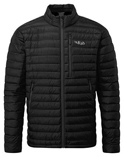 RAB M Microlight Jacket Grau-Schwarz, Herren Daunen Jacke, Größe L - Farbe Black - Shark