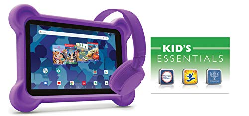 8-inch Tablet with Bumper case and Headphones (Purple)