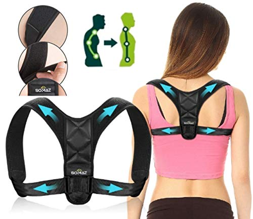 SOMAZ Posture Corrector, Adjustable Upper Back Brace For Clavicle Support and Providing...