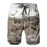 HARLEY BURTON Pantalones cortos de natación para hombre, grúas de papel, adorno de origami, secado rápido, troncos de natación, surf y playa con cordón ajustable