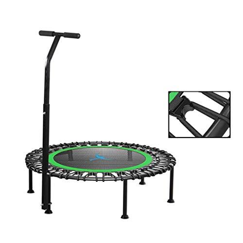 LuoMei 40 Pouces Muet Petit Trampoline avec Réglable Trampoline de Saut de Fitness Pour Mains Courantes Pour Adultes ou Enfants Rewind Élastique Jumping Cardio Trainer Workout Système de Corde Élasti