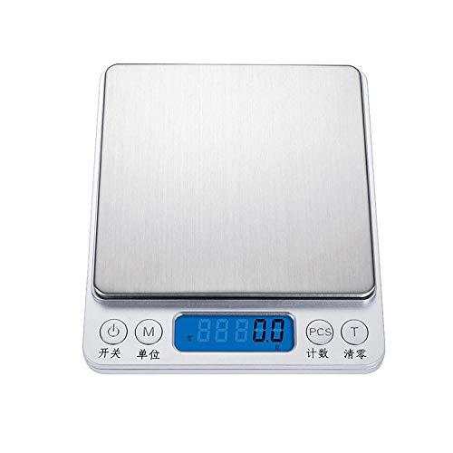 Roestvrijstalen Hoge Precisie Keukenweegschaal Voedsel Medicinale Materialen Genaamd Mini Bakken Elektronische Weegschaal -1000G0.1 Chinees