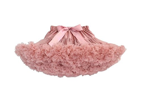 Elfin-Lore Mujeres Falda Tutú Princesa de Tul Ballet Danza Enaguas Carnaval Boda Disfraces Rosa oscuro - XL