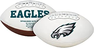 Philadelphia Eagles Embroidered Full Size Signature Series Logo Football with Super Bowl Logos and Scores