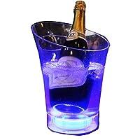 光るアイスペール LED アイス ペール バスケット バケツ パーティー カクテル バー スナック お洒落 レインボー グラデーション ワインクーラー