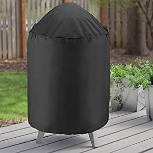 """Unicook Heavy Duty Waterproof Dome Smoker Cover, 30"""" Dia by 36"""" H, Kettle Grill Cover, Barrel Cover, Water Smoker Cover, Fit Grill/Smoker for Weber Char-Broil and More"""