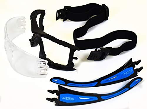 BeBright Gafas Protección con Patilla y Cinta Intercambiable, Gafas de Seguridad con Marco de confort Ajuste Perfecto y Tratamiento Lente Alto Rendimiento