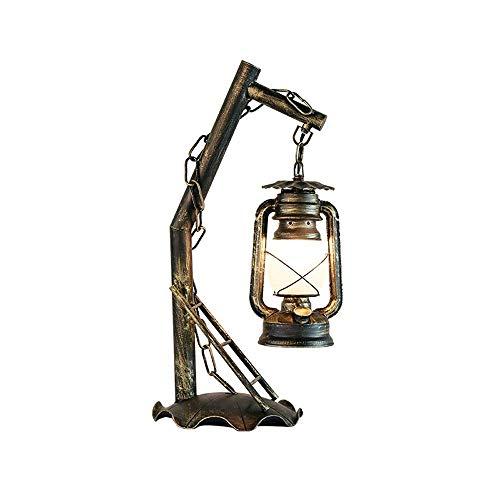 CENPEN Retro Creativa salón Dormitorio Hierro Forjado Mesa lámpara de la Vendimia lámpara de keroseno Linterna lámpara clásica lámpara de Mesa de Estudio Lámpara de Mesa Decorativa