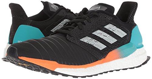 adidas Men's Solar Boost Running Shoe, Black/Grey/hi-res Aqua, 9 M US