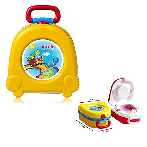 Vasino da viaggio, portatile, per imparare a usare il vasino, sedile WC pieghevole, per addestramento orinatoio (giallo)