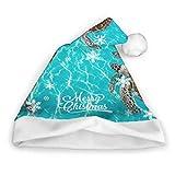 Riviera Maya Turtles Photomount en el Caribe Sombreros de Santa con luz Sombrero de Santa para niños Fiesta de adultos Año nuevo Decoración del día de Navidad Sombreros de fiesta para niños Sombreros
