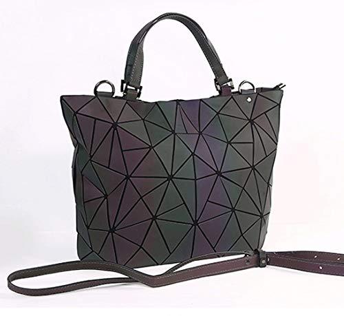 WANGXL schoudertas van leer met laserdruk en geometrische schouderriem, grote tas voor vrouwen, zomertas van Moda Firmata