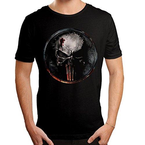 Punisher Herren T-Shirt Blood Logo Daredevil Marvel Baumwolle schwarz - M