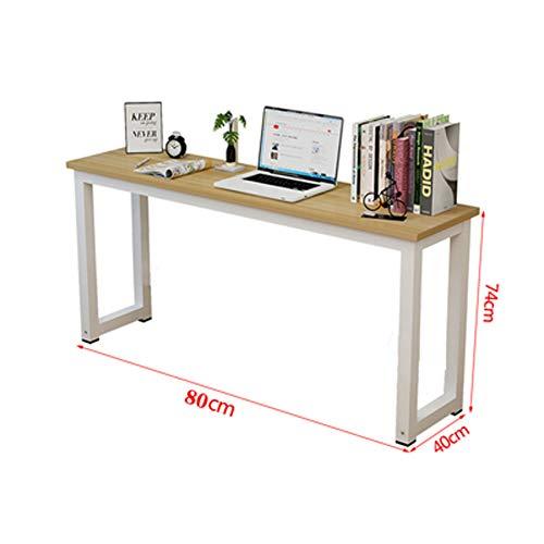 Computerbureau, lange tafel tegen de muur, smalle tafel, bureau, bureau, bureau, huis, eenvoudige rechthoekige tafel, slaapkamer