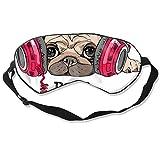 Antifaz para dormir Doug The Pug, máscara ajustable y transpirable, antifaz para dormir y dormir