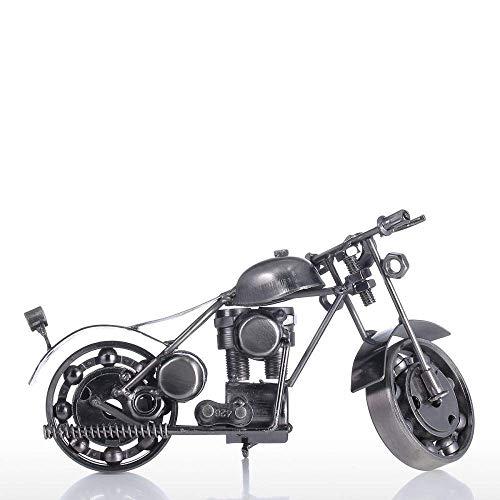 LHQ-HQ Metal motocicleta ornamento hierro arte Tooarts decoración del hogar artesanía metal moderna escultura artesanía arte regalo decoración para habitación