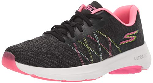 Skechers Women's GO Run VIZ TECH Shoe, Black/Multi, 5 M US