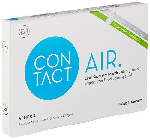 Contact Air spheric Monatslinsen weich, 6 Stück/BC 8.80 mm/DIA 14.20 mm / +6 Dioptrien