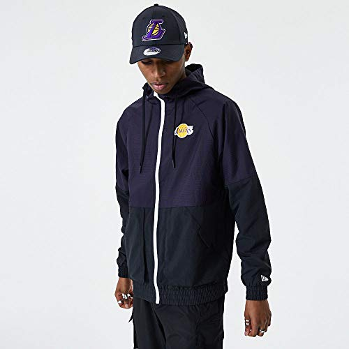 New Era NBA LOS Angeles Lakers Check Ripstop - Giacca a vento, taglia XXL