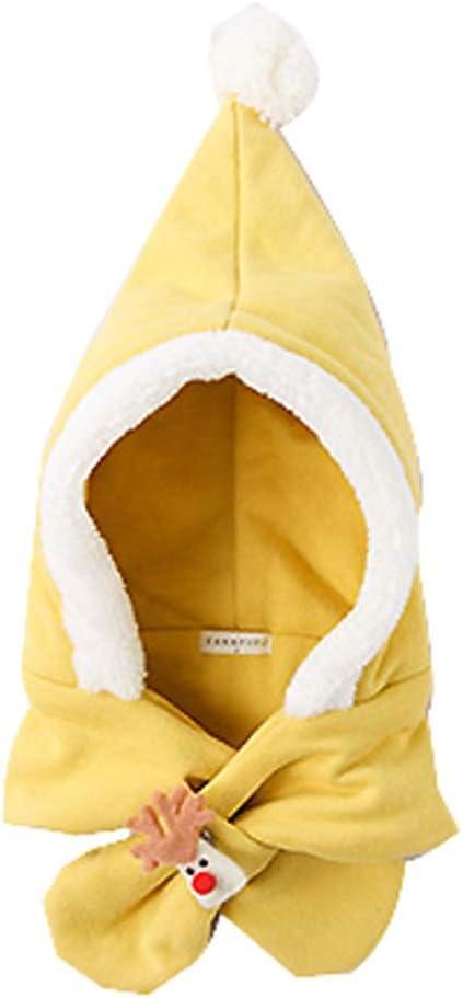 DRAGON SONIC Baby Girls Boys Winter Hat Cute Scarf Earmuffs, Yellow