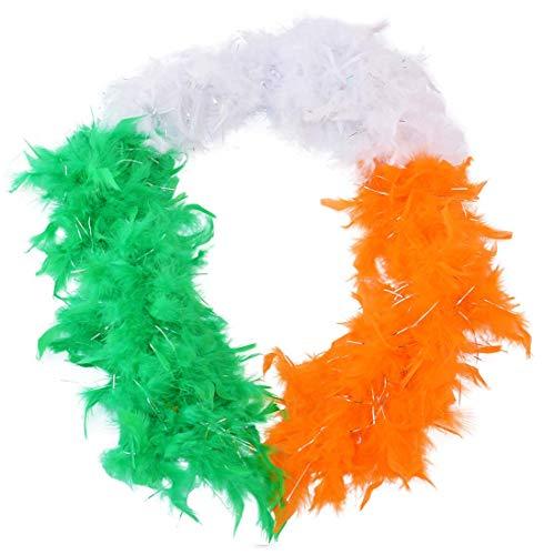 Lei orange/blanc/vert