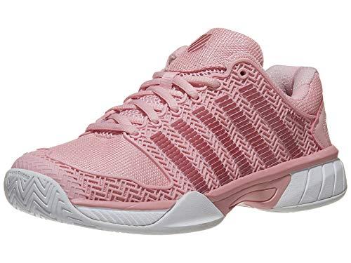 K-Swiss Junior Hypercourt Express Tennis Shoes, Coral Blush/White (Size 5 M US Big Kid)