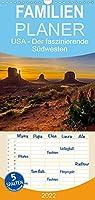USA Der faszinierende Suedwesten - Familienplaner hoch (Wandkalender 2022 , 21 cm x 45 cm, hoch): Natur und Staedte, die Highlights des Suedwestens der USA (Monatskalender, 14 Seiten )