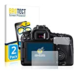 BROTECT Protector Pantalla Compatible con Canon EOS 80D Protector Transparente (2 Unidades) Anti-Huellas