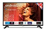 """Cello C3220G 32"""" Smart Android TV with Freeview Play, Google Assistant, Google Chromecast"""