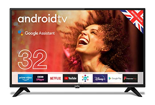 """Cello C3220G 32"""" Smart Android TV with Freeview Play, Google Assistant,..."""