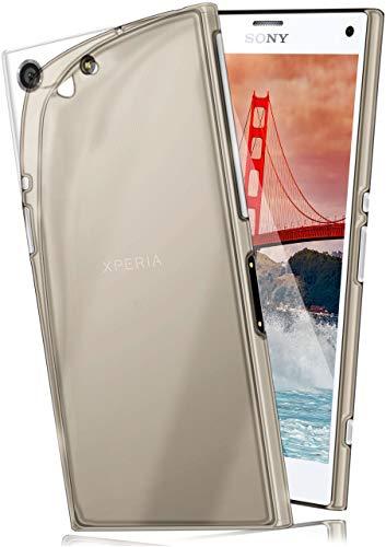 moex Aero Hülle für Sony Xperia Z3 Compact - Hülle aus Silikon, komplett transparent, Handy Schutzhülle Ultra dünn, Handyhülle durchsichtig - Grau