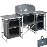 TecTake 800585 - Camping Kitchen Aluminium, Easy to assemble, Lightweight - different Models