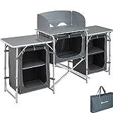 TecTake 800585 - Cocina de Camping, Aluminio, Ligera, Plegable - Varios Modelos (Tipo 1 | No. 402919)
