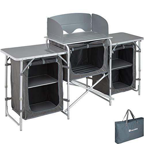 TecTake 800585 - Cucina da Campeggio Alluminio, Facile Montaggio, Minimo Peso - Modelli Differenti (Tipo 1 | No. 402919)
