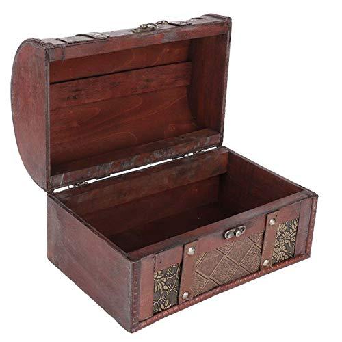Vcriczk Caja organizadora de joyería, Caja organizadora de Madera de Gran Capacidad para joyería, Estilo Europeo Teme Bars Tiendas de Ropa Estudios para almacenar Joyas y Cosas pequeñas(Enrejado)