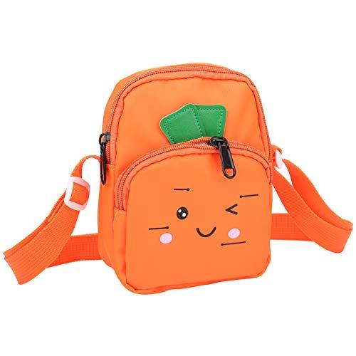 Bolso pequeño para niños, tela de nailon verde y naranja para cochecitos, bolsos de noche(Orange)