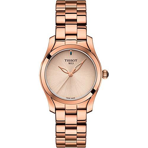 Orologio Tissot T-Lady T1122103345100 Al quarzo (batteria) Acciaio placcato oro rosa Quandrante Oro rosa Cinturino Acciaio