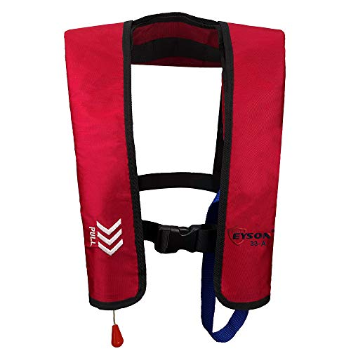 Eyson Inflatable Life Jacket Life Vest Basic Automatic/Manual (Red Auto)