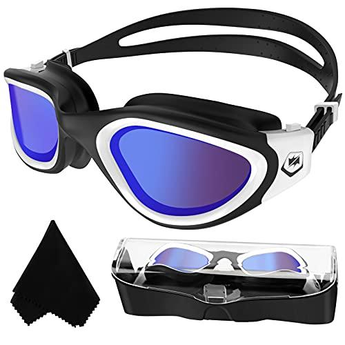 Winline Gafas de natación polarizadas,protección Anti-vaho protección UV sin filtraciones visión Clara fáciles de Ajustar con Puente Nasal Suave para Hombres, Mujeres, Adultos y Adolescentes
